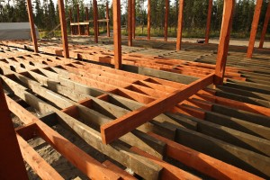 ground floor posts and joists