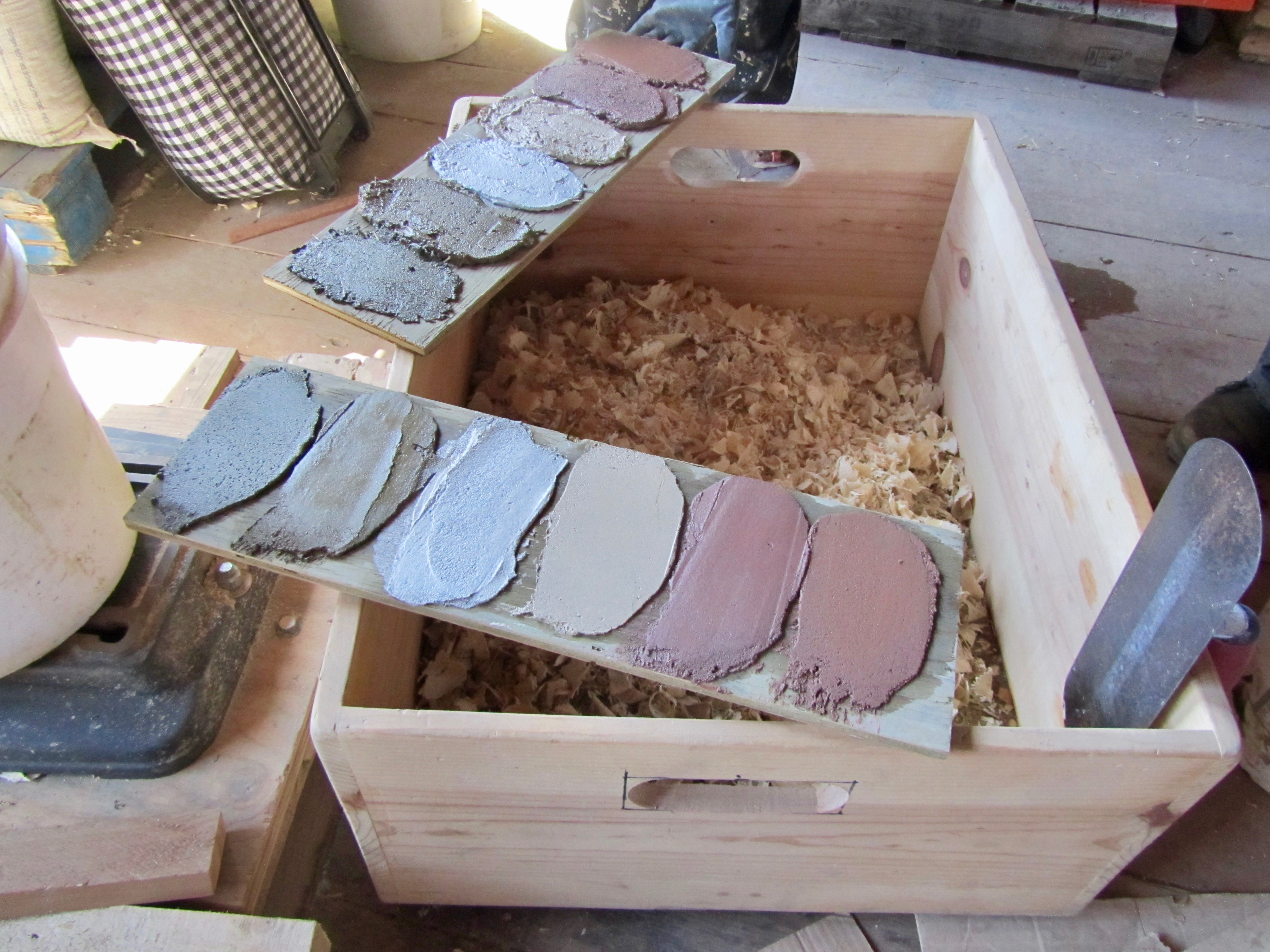clay finish plaster colors