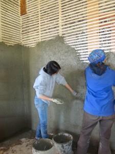 rough plastering