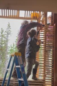 hammering spruce lathe